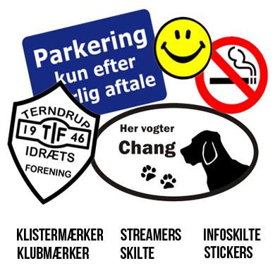 Dine egne Stickers & Mærker