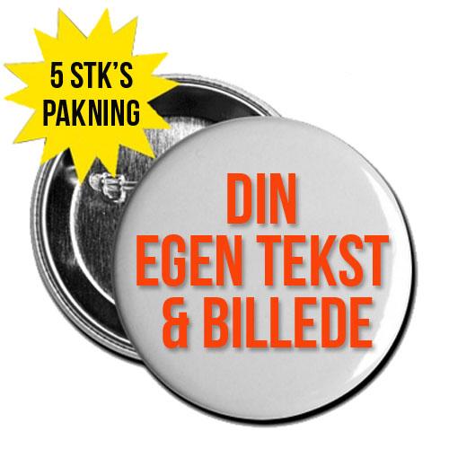 Din tekst & billede på Badges